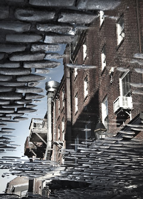 Alleyway Reflections; Portland, Maine