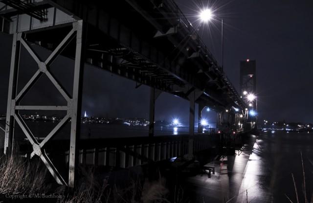 Bridges of Kittery, Maine at Night