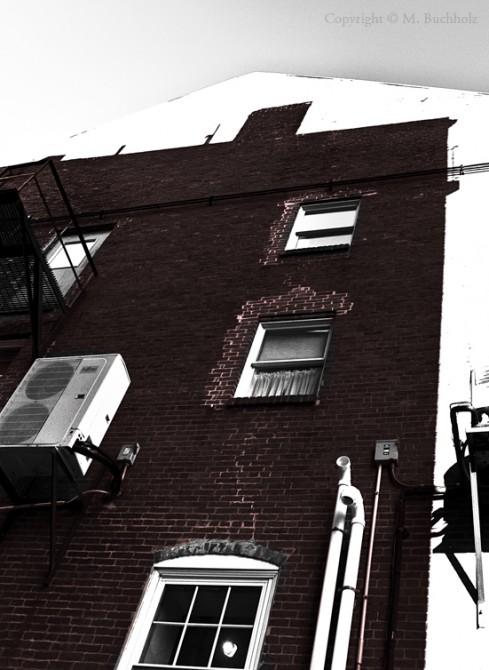 Shadow Cast Building Illusion; Portland, Maine