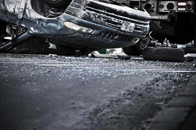 Overturned Van in Portsmouth, NH