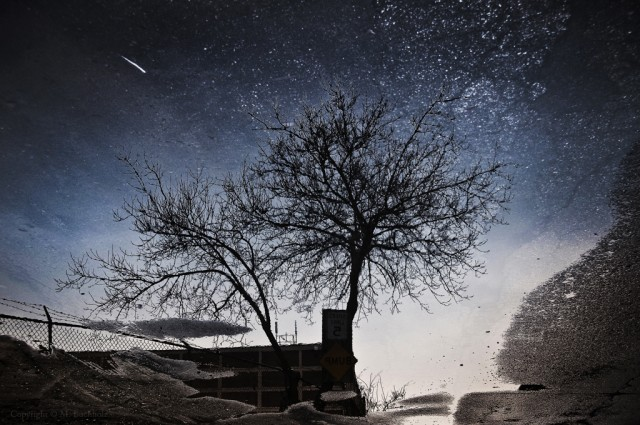 Starry Night; Reflections, Nashua, NH