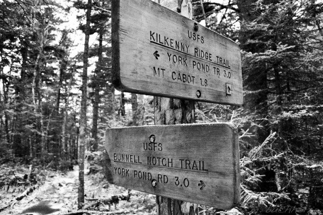 Trail Signs on Mt. Cabot