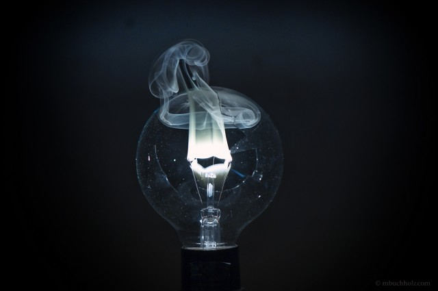 Burning Lightbulb Filament