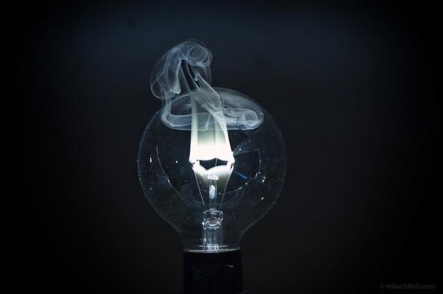 Burning Lightbulb Filament