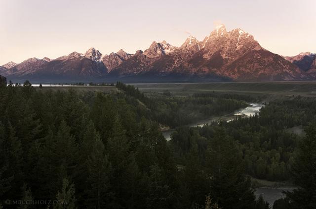 Sunrise; Snake River, Grand Teton National Park, Wyoming