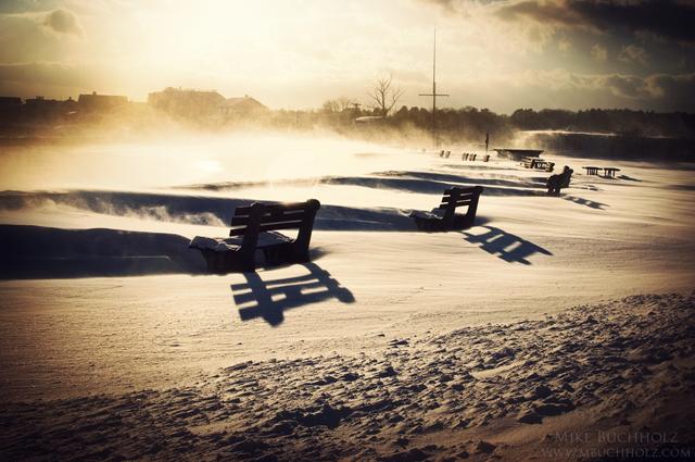 Closed for Season; Boardwalk, Wallis Sands Beach, Rye, NH
