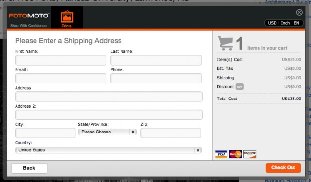 Step 4: Enter shipping address
