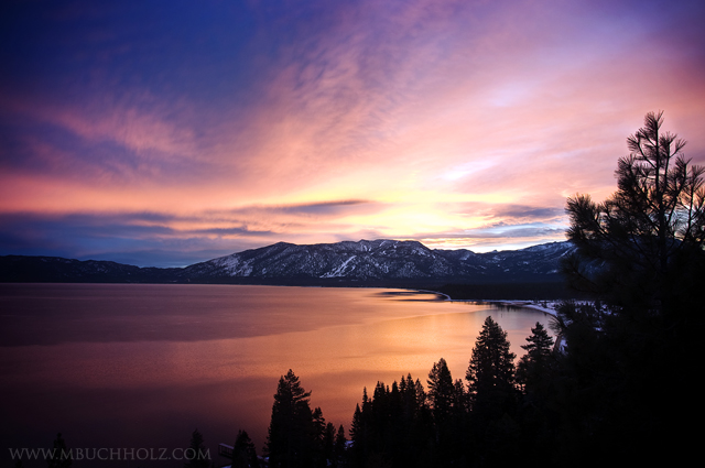 Heavenly Mountain Sunrise; Lake Tahoe, California