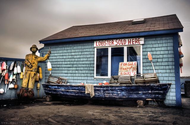 Lobsters Sold Here; Rye Beach, NH