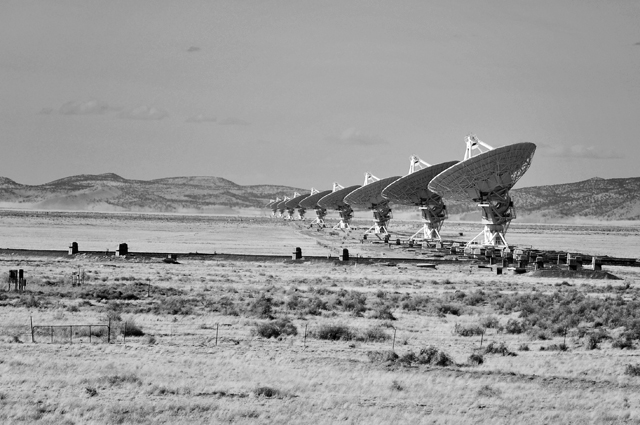 Antenna Row; Very Large Array, Socorro County, NM