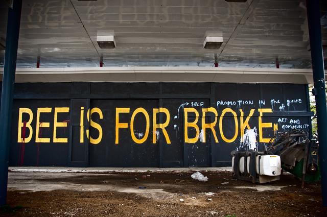 Bumblebee Street Art; Islington Street, Portsmouth, NH