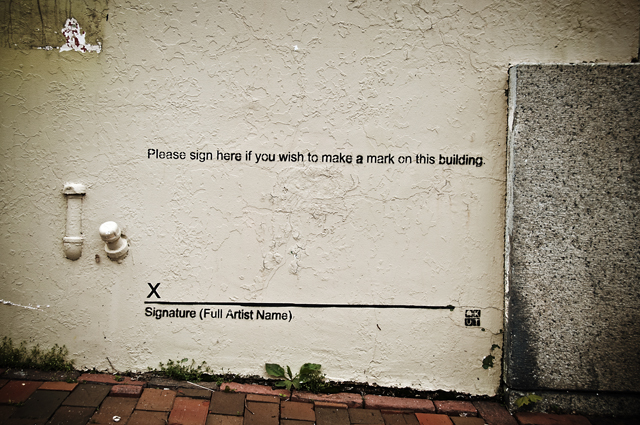 Please Sign Here If You Wish To Make A Mark On This Building; Herakut, Portsmouth, NH