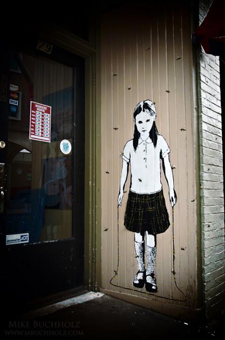 Bumblebee Street Art; Daniels Street, Portsmouth, NH