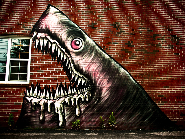 Shark Toof, Street Art; Portsmouth, New Hampshire