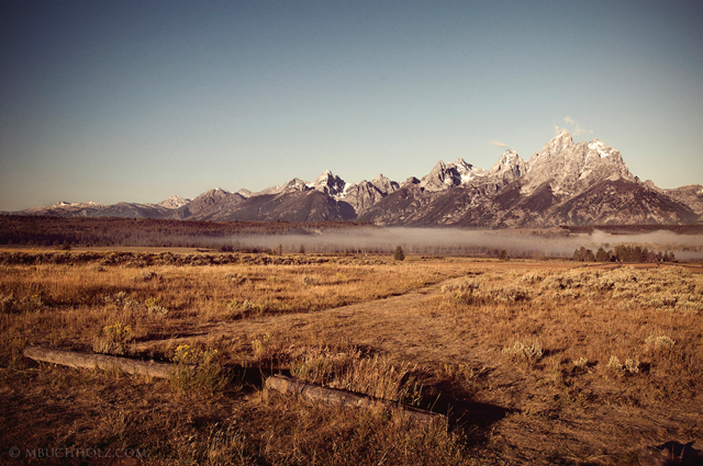 New Morning Fog; Grand Tetons, Wyoming