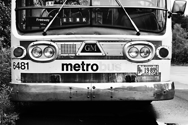 Antique DC Metro Bus, Maine