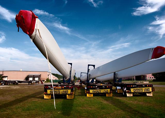 Wind Farm Fan Blades; Portsmouth, NH