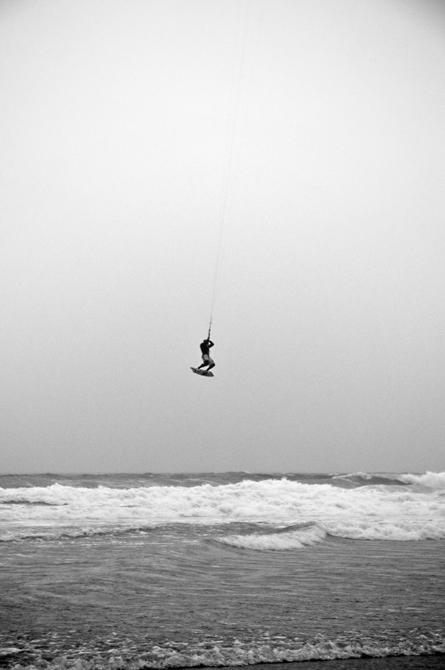 Kitesurfing; Jenness State Beach, Rye, NH