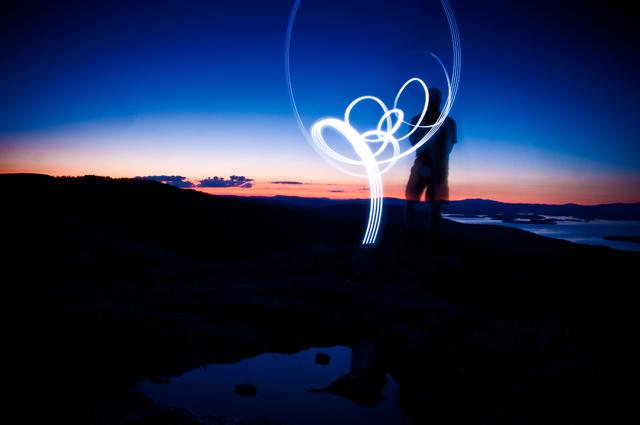 Sunset Light Art, Summit, Mt. Major; Alton, NH