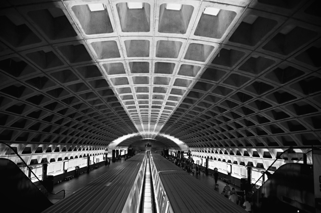 Rail Lights, L'Enfant Plaza Metro Station; Washington D.C.