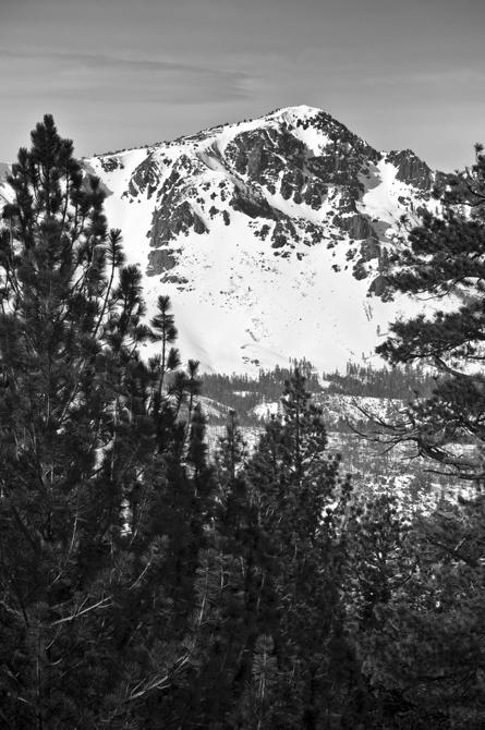 Tallac Mountain, Winter; South Lake Tahoe, CA