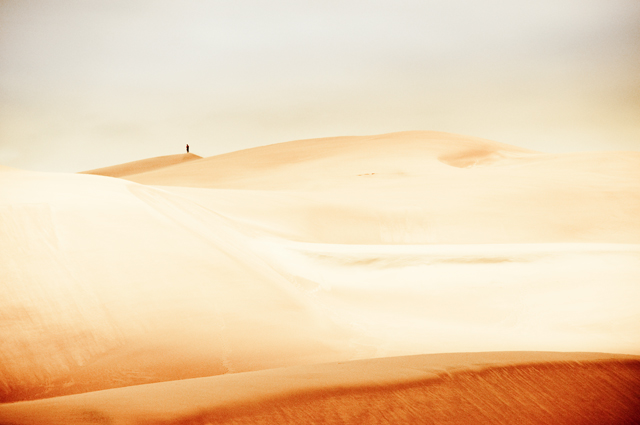 Lone Hiker; Great Sand Dunes, Colorado