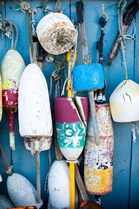 Hanging Buoys I; Rye Beach, NH