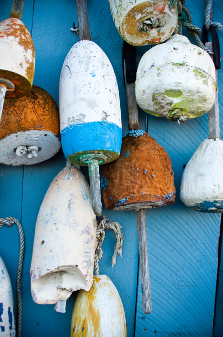 Hanging Buoys II; Rye Beach, NH