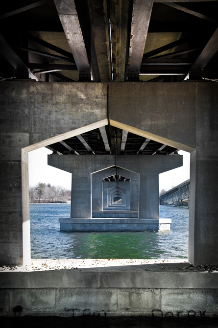 Under The Bridge; Little Bay Bridge, Newington, NH
