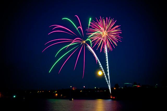 Fireworks, July 4th; Port Angeles, Washington
