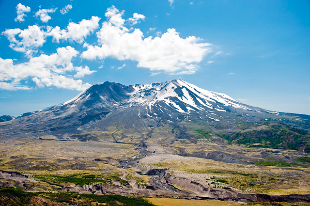 Flow Deposits; Mount St. Helens, Washington