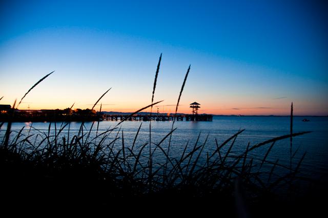 Sunset, Dock; Port Angeles, Washington