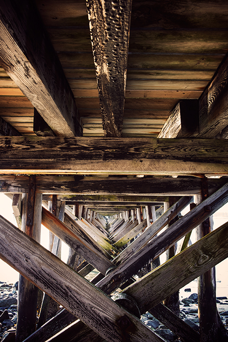 Under The Boardwalk; Kittery, Maine