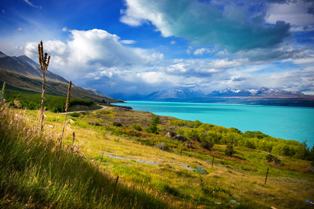 Lake Pukaki; Mount Cook Village, New Zealand