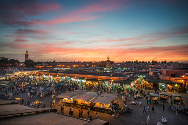 Sunset, Jemaa el-Fnaa; Marrakech, Morocco