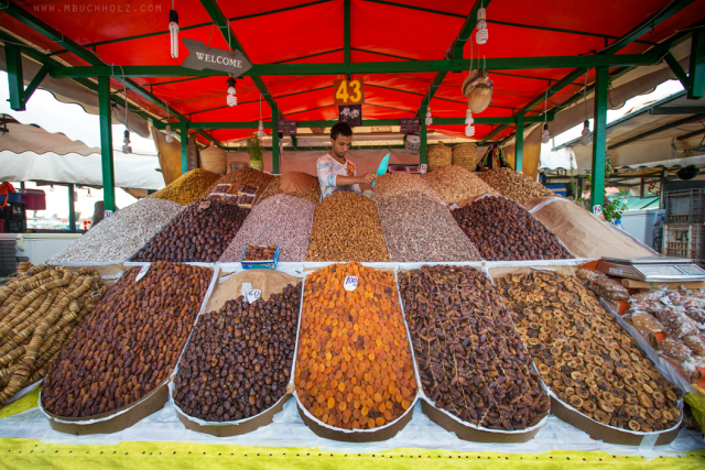 Dried Fruit and Nut Souk; Marrakech, Morocco