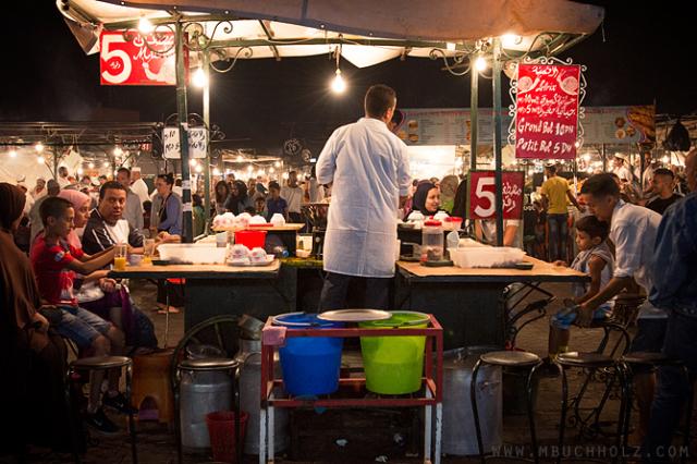 Bebouch Stall; Marrakech, Morocco