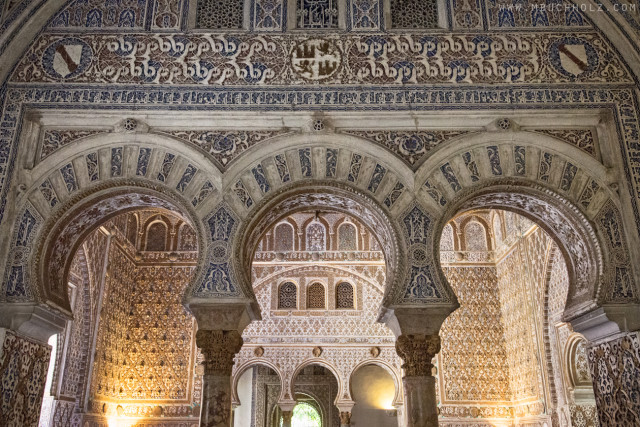 The Mudéjar Arches of Alcázar; Sevilla, Spain