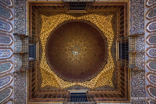 Above the Hall of the Half Orange, Alcázar; Sevilla, Spain