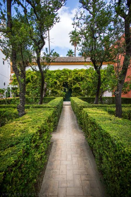Walkways of Alcázar; Sevilla, Spain