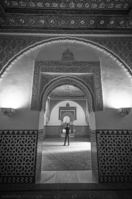 Standing Alone, Hallways of Alcázar; Sevilla, Spain