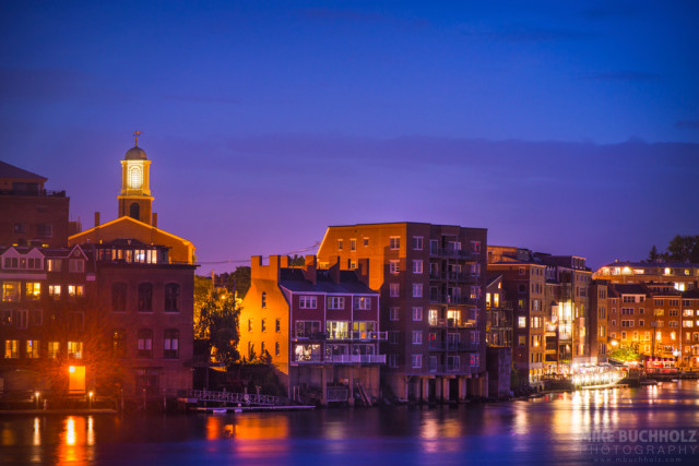 Old Harbour After Dark; Portsmouth, NH