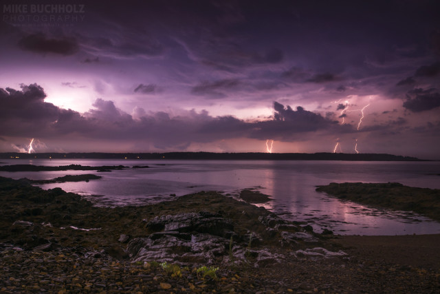 Lightning Over The Piscataqua; New Castle, NH