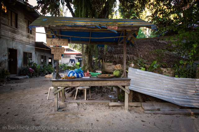 Roadside Fruit Stall; Port Barton, Philippines