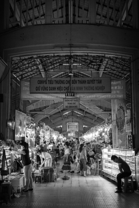 Entering the Ben Thanh Market; Ho Chi Minh, Vietnam