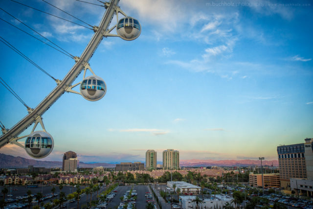 View from the High Roller; Las Vegas, NV
