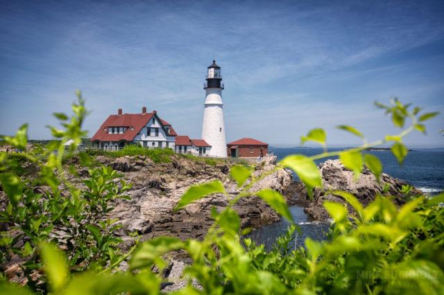 Fields of Portland Head Light; Cape Elizabeth, Maine
