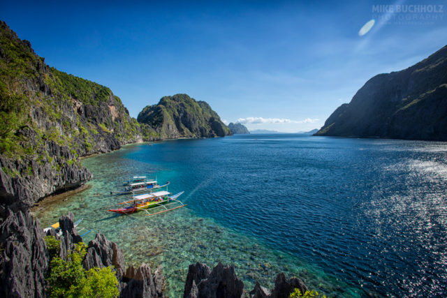 Tropical Views of Tapiutan Strait; Palawan, Philippines