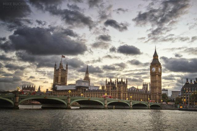 Across the Thames; Big Ben, Parliament, London