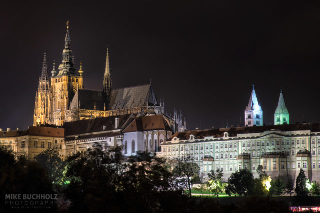Prague Castle by Night; Prague, Czech Republic